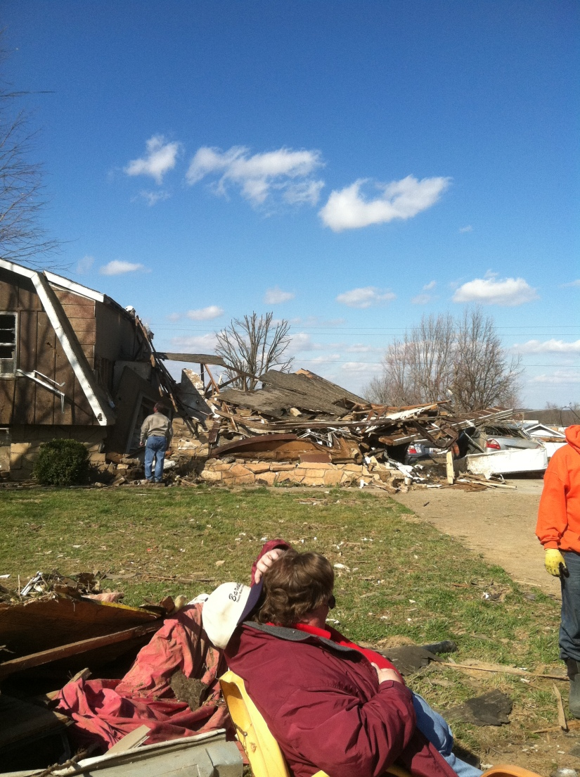 My grandparents house ... or what's left of it.